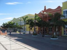 restored buildings in cozumel mexico