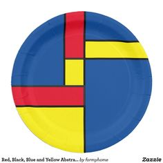 Red Black Blue and Yellow Abstract Paper Plate  sc 1 st  Pinterest & 100+ Colorful abstract paper plates - graphic design paper plate ...