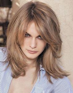 medium layered haircuts women - Google Search