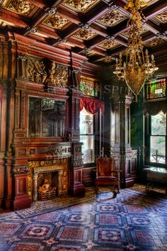 Shakespeare Chateau - StetsonAndSpursPhotograph - مجلل - Scott Cunningham is an internationally published photographer and active duty US Army soldier curre - Victorian Interiors, Victorian Decor, Victorian Gothic, Victorian Homes, Victorian Library, Beautiful Architecture, Architecture Design, Beautiful Interiors, Beautiful Homes