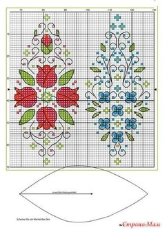 """Diary of the """"Biskornyu and other"""" Krivul'ko """""""" - Country Mom 3 thousand images… Biscornu Cross Stitch, Cross Stitch Borders, Cross Stitch Flowers, Cross Stitch Designs, Cross Stitching, Cross Stitch Embroidery, Cross Stitch Patterns, Blackwork, Christmas Embroidery Patterns"""