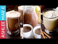 3 Warm Fall Drink Recipes - Hot Chocolate, Warm Pumpkin Pie drink and Homemade Apple Cider Homemade Apple Cider, Homemade Hot Chocolate, Hot Chocolate Recipes, Hot Coco Bar, Pumpkin Drinks, Christmas Brunch, Christmas Goodies, Christmas Recipes, Christmas Eve