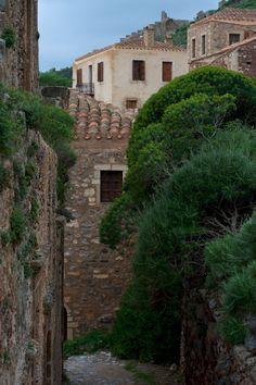 The trees and the stones ~ Monemvasia  by George Koultouridis