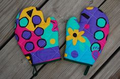 How to Make Kids' Oven Mitts.. Good directions!!