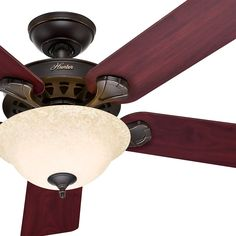 """Hunter 52"""" Oil Rubbed Bronze Large Room Ceiling Fan - Optional Remote Control #Hunter #Traditional"""