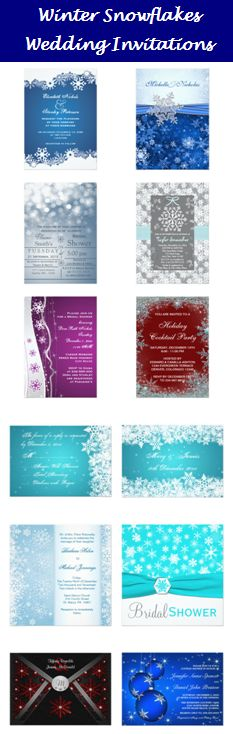 Winter Snowflake Wedding Invitations