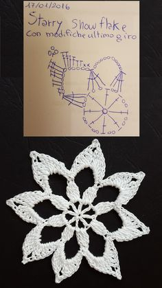 SF002a-Starry snowflake with my variations last round. Original pattern here…