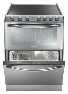 Triple the solution for narrow kitchens? The combined appliance , like here with this 3-in-1 offers a hob (gas or mixed cookers ceramic), cooker and dishwasher washing up 6 places at once. http://www.rosieres.fr