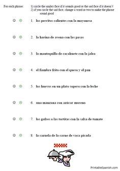 la comida spanish restaurant dialogue script spanish i ii student work. Black Bedroom Furniture Sets. Home Design Ideas