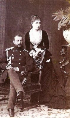 Герцог Евгений Максимилианович со второй супругой графиней Зинаидой Дмитриевной Богарне.
