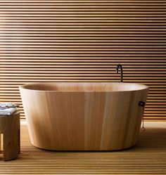 japanese ofuro soaking wood tub • rapsel