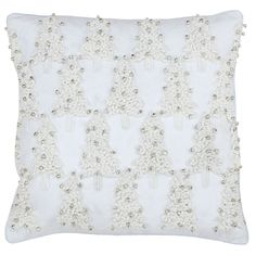 Inject some fun into your Christmas room display with the Paoletti White Christmas cushion cover. Featuring an embroidered Christmas tree design with cotton thick stitching and fun silver bells, the White Christmas Tree Bells cushion cover is a sumptuously cosy, decorative item that your guests will be enamoured with.