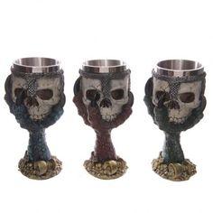 Dekorativní číše Dračí dráp a lebka #dekorace #lebka #skull
