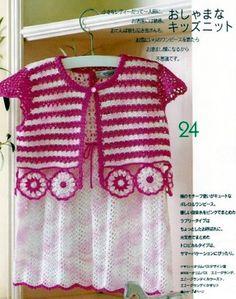 crochet irlandês &: meninas vestir