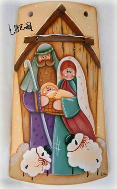 With these different decoration ideas made of wood you make your house and your … Christmas Rock, Christmas Nativity Scene, Christmas Time, Christmas Crafts, Christmas Decorations, Christmas Ornaments, Christmas 2017, Christmas Drawing, Christmas Paintings