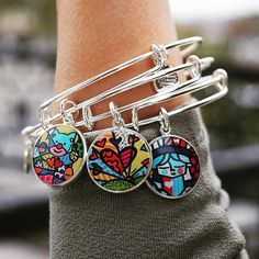 ALEX AND ANI Romero Britto Collection | Pop Artist Romero Britto uses vibrant colors and bold patterns as a visual language of hope and happiness.