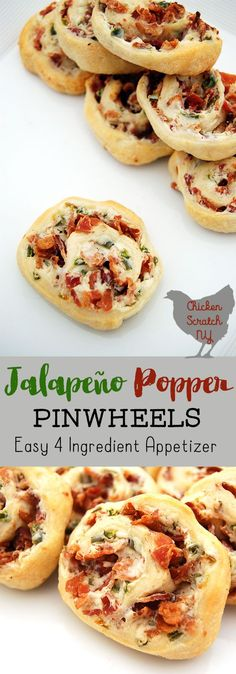 Whip up an easy appetizer with this 4 ingredient recipe for Jalapeno Popper Pinwheels. Enjoy the game day favorite flavors wrapped up in buttery pastry #appetizer #jalapeno #crescentroll #4ingredients #footballparty #superbowlparty #tailgaiting