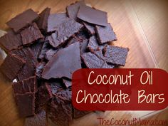Coconut Oil Chocolate Bars