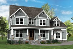 Craftsman House Plan with Main Floor Game Room and Bonus Over Garage - 500007VV - 05