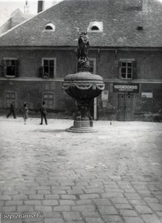 Orsolya téri részlet 1939-ből - Sopron anno Statue Of Liberty, Travel, Statue Of Liberty Facts, Viajes, Statue Of Libery, Destinations, Traveling, Trips