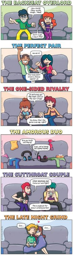 The 6 Types of Gamer Couples