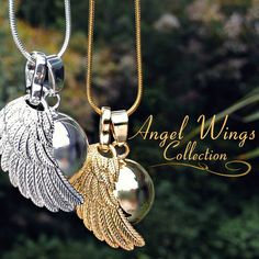 This is so beautiful!!! Calling all angels:  These necklaces feature a special chime ball that emit a soothing sound while you move, believed to call upon your Guardian Angel. Angel Callers have been used since Medieval times for their protection. Legend has it that you can call your Guardian Angel by ringing the chime of an Angel Caller.