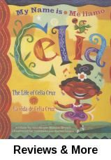 Me llamo Celia: la vida de Celia Cruz. By Monica Brown; illust. by Rafael López.│Picture-book biography of Cuban-born salsa singer. 1st person narrative of Cruz's youth in Havana. Eventually Castro's regime forced her to leave Cuba, and Cruz found success as a singer in New York City and Miami. A great intro to the influential Latina woman and her music, with wonderful descriptions of sights, smells and sounds. Won 2005 Americas Award for Children's and Young Adult Literature. Bilingual.