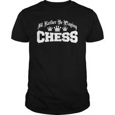 i'd rather be playing chess T Shirts, Hoodies. Get it here ==► https://www.sunfrog.com/Sports/id-rather-be-playing-chess-Black-Guys.html?57074 $19