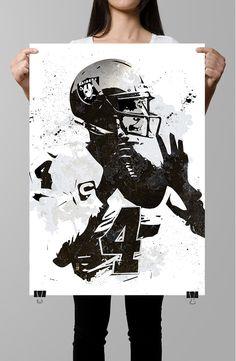 Derek Carr Oakland Raiders Poster by GoFigureArtStudio on Etsy