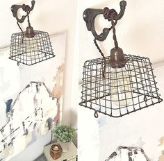 Wire Berry Basket Pendant Light