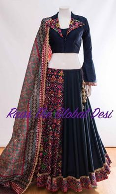 CHANIYA CHOLI 2018 Indian Fashion Dresses, Dress Indian Style, Indian Gowns, Indian Designer Outfits, Indian Outfits, Indian Clothes, Indian Wear, Fashion Outfits, Garba Dress