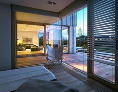 Projekt domu Nowoczesny 1 216,3 m2 - koszt budowy - EXTRADOM Home Organization, Interior Inspiration, Interior Ideas, Interior Architecture, Floor Plans, Exterior, House Design, Outdoor Decor, Furniture