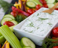 This skinny dill vegetable dip is a staple in our fridge -- we're hardly ever without it! You won't want to stop snacking on vegetables when you're dipping them in this healthy and low-cal dip.  I developed and photographed this recipe in October and I have been so eager to share it with you all. I was going to share it on Wednesday, but my little man has been in and out of the ER so things have been a little nutso. PS: He's 4-years-old now! That means it's been four years...