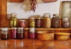 $32 Mike Savad - Sometimes you can't help but put everything in jars. It's a bit of hard work but fun at the same time. To have semi-fresh produce in the dead of winter is kind of nice. It's also neat seeing just what we can cram in those small bottles.  #savad #kitchen #chef #preserves #farmer #foodie #jars