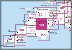 Key to OS Landranger Maps of Cprnwall (Plus Devon, Dorset and Somerset)