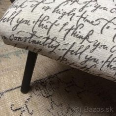 Vintage kreslo Letter A Crafts, Ottoman, Lettering, Chair, Furniture, Vintage, Home Decor, Decoration Home, Room Decor