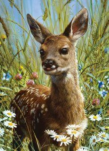 Animal Planet: Spring Fawn (1000 Piece Puzzle by MasterPieces)