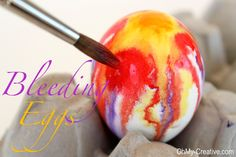 Hand Painted Watercolor Easter Eggs at ohmy-creative.com  <3