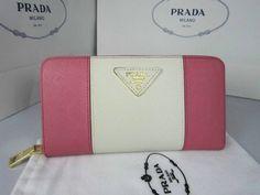 e0e14a271e Prada Portafoglio Saffiano Colore Zip rosa/bianco in pelle replica - Italia  Borse Outlet!