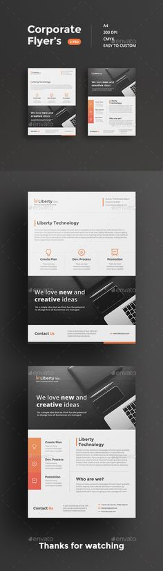 Awesome Corporate Flyers Template #design Download: http://graphicriver.net/item/corporate-flyers/12607957?ref=ksioks