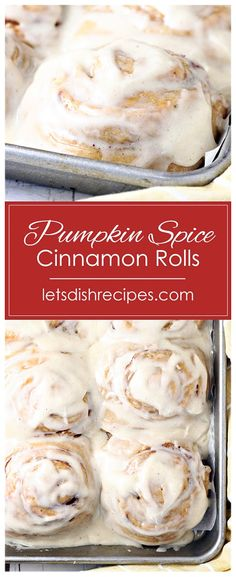 Cake Mix Pumpkin Spice Cinnamon Rolls Recipe -- These incredibly soft and fluffy cinnamon rolls start with a spice cake mix for wonderful fall flavors in every bite! Best Breakfast Recipes, Healthy Dessert Recipes, Brunch Recipes, Desserts, Cinnamon Roll Monkey Bread, Pumpkin Cinnamon Rolls, Easy Holiday Recipes, Fall Recipes, Savory Pumpkin Recipes