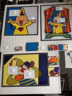 Zoekplaatjes thema circus, verschillende niveau's.