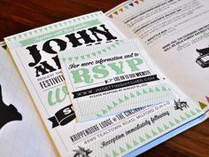 Megan & John Wedding Invitation #Stationery