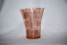 Pink Depression Era Glass Vase by TahoeTonyas on Etsy