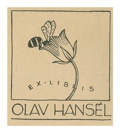 Ekslibris, Olav Hansél   by Øklands trykksaker
