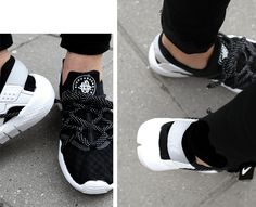 NEW BLACK AND WHITE SNEAKERS