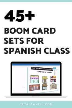 Have you tried Boom Cards with your Spanish students? These Boom Cards are perfect for Spanish class for middle school or high school students! Practice at home for homework or distance learning in a 1:1 setting! Reading, writing, and listening practice activities are all included in this mega bundle of interactive task cards for digital practice activities with Boom Learning! Great for individual practice, station activities, review activities, and more! Middle School Spanish, Spanish Lesson Plans, Spanish 1, Thing 1, Spanish Classroom, High School Students, Task Cards, Homework, Distance