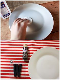 how to paint on plates