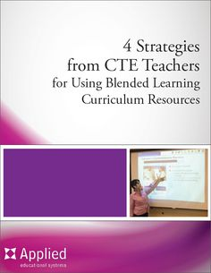 #BlendedLearning : Free whitepaper with strategies for using blended learning in the #CTE classroom