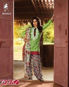 Sahiba Neeru Bajwa Punjabi Patiala Green Salwar Suit